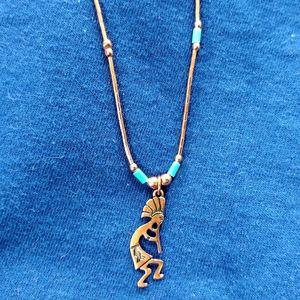 SW Native American Kokopelli Copper Necklace